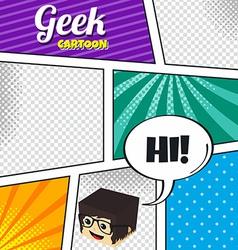 cartoon theme comic template vector image