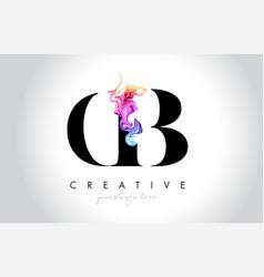 cb vibrant creative leter logo design vector image
