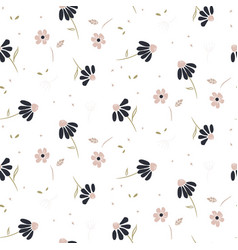 chamomile flowers modern pattern seamless vector image