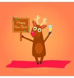 Christmas deer characters vector image