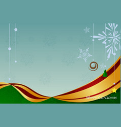 christmas ornament background vector image