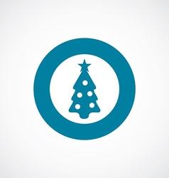 Christmas tree icon bold blue circle border vector
