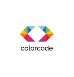 color code logo vector image
