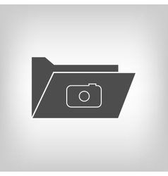Computer folder with camera vector