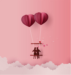 concept of love and valentine day vector image