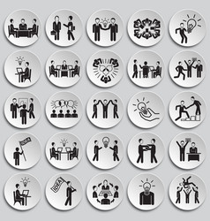 Coworking set on plates background vector