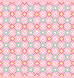 Decorative geometric pattern in pink vector