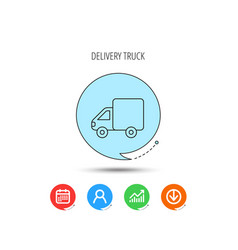 delivery truck icon transportation car sign vector image