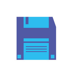 Digital diskette icon flat design vector