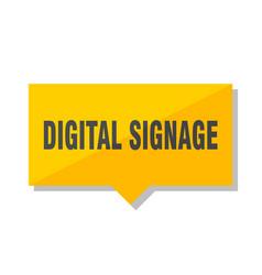 Digital signage price tag vector