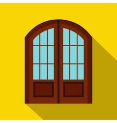 Double door icon flat style vector
