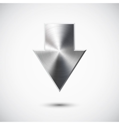Down metal arrow vector image