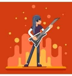 Electric Guitar Icon Guitarist Hard Rock Heavy vector image