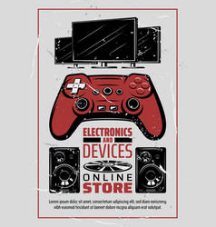 Electronic appliances audio and game devices vector