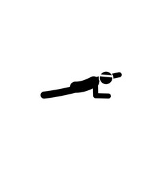 fitness arm plank icon element of fitness signs vector image
