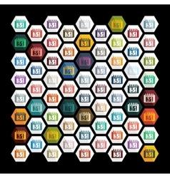 Flat design calendar vector