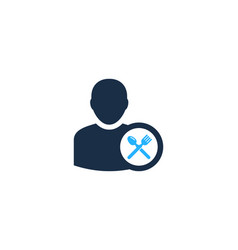food user logo icon design vector image