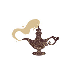 from antique eastern fantasy magic lamp comes vector image