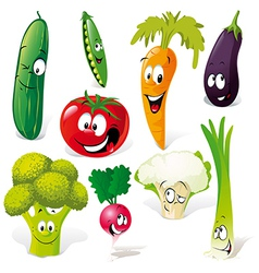 funny vegetable cartoon vector image