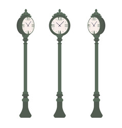 green street clock set vector image