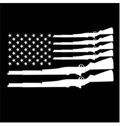 Gun black and white american vector