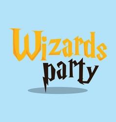 harry potter wizard party 08 vector image