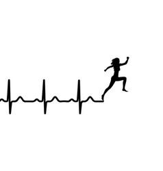 Heartbeat electrocardiogram vector