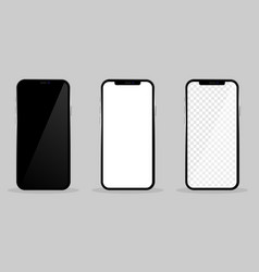high quality realistic trendy no frame smartphone vector image