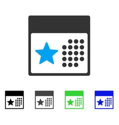 Holiday calendar flat icon vector