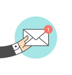 icon new mail envelope vector image