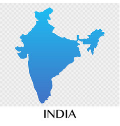 India map in asia continent design vector