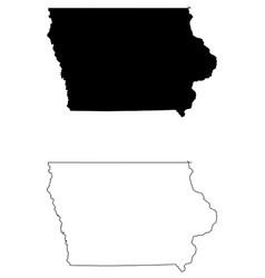 Iowa ia state map usa vector