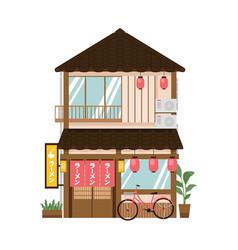 Japanese noodle restaurant vector