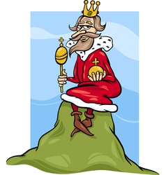 king of the hill saying cartoon vector image