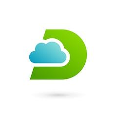 Letter D cloud logo icon design template elements vector image