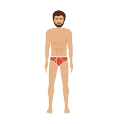men with red swimming short vector image