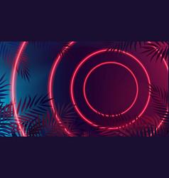 Modern futuristic sci-fi red neon lights bright vector