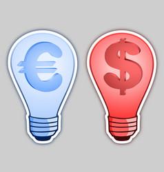 money bulb vector image
