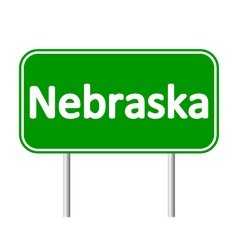 Nebraska green road sign vector