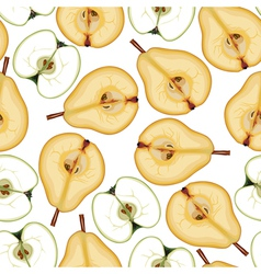 pear apple pattern vector image