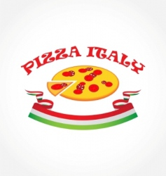 pizza Italy vector image
