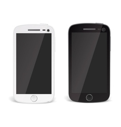Realistic detailed smartphones vector image
