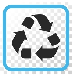 Recycle Icon In a Frame vector image