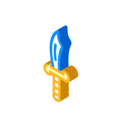 Saber pirate isometric icon vector