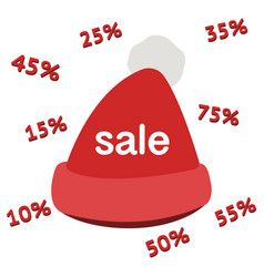 sale 50 off red label card christmas speech with vector image