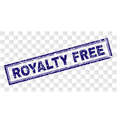 Scratched royalty free rectangle stamp vector
