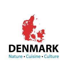 silhouette danish map - for vector image