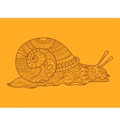 Snail color drawing vector image