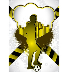 soccer summer background vector image