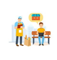 Specialist shipping department delivery products vector